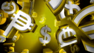 Yellow Version, Loopable World Currency Symbols Flying By