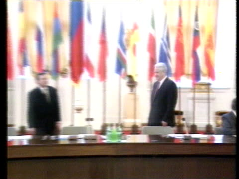 Yeltsin elections RUSSIAN Moscow MS SIDE Boris Yeltsin RL PULL OUT as stands by his seat in Russian Parliament CMS Yeltsin LMS Yeltsin standing...