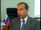 Yeltsin sacks Stepashin ITN INT Vyacheslav Nikonov interview SOT Putin's rating is zero / never regarded as a Presidential contender and Yeltsin's...