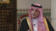 Adel alJubeir interview ENGLAND London Croydon INT Adel alJubeir interview SOT re ceasefire in Yemen bombing of funeral