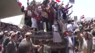 Yemen's Huthi rebels marked the third anniversary of their takeover of Sanaa on Thursday gathering tens of thousands of supporters in a show of force...