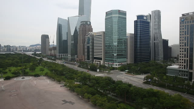 Yeouido Park and Skyscrapers