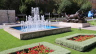 Yerevan, Cascade, view of statues and gardens