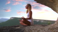 Yoga at the sunset