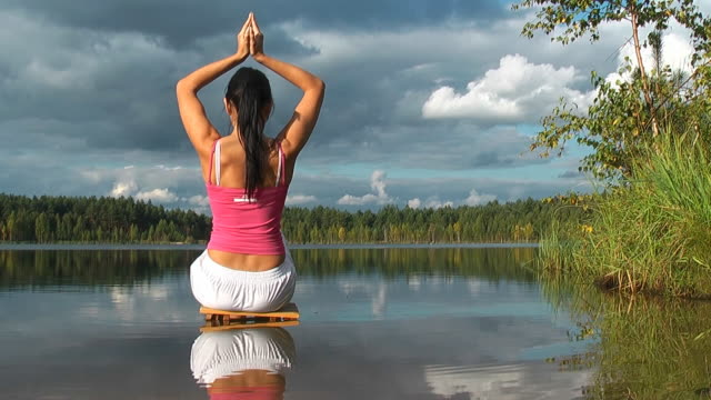 Yoga in the Lake