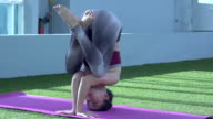 Yoga On Green Floor