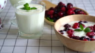 yogurt with mixed berries
