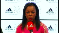 Yohan Blake Adidas press conference Veronica CampbellBrown question and answer session SOT
