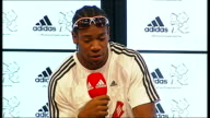 Yohan Blake Adidas press conference Yohan Blake question and answer session SOT on whether he sees himself as favourite see myself as one of...
