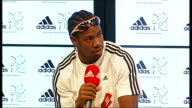 Yohan Blake Adidas press conference Yohan Blake question and answer session SOT on hype surrounding 100 metres on people in Birmingham
