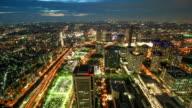 Yokohama Japan time lapse at night