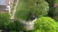 York City Walls  - Aerial View - England,  York,  United Kingdom