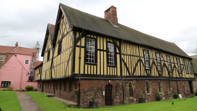 York, exterior view of the Medieval Merchant Adventurers' Hall