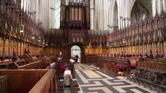 York, the choir in  York Minster, Metropolitical Church of Saint Peter