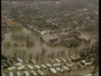 BONGS AIR VIEW Flooded town PULL OUT Flooded town PULL