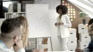 HD:  Junge afrikanische Frau sprechen beginnen Business.