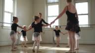 young ballerinas in a dance studio