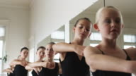 young ballerinas in a dance studio
