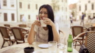 Young beauty woman on coffee with a friend.
