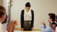 Young Business Woman Leading Meeting