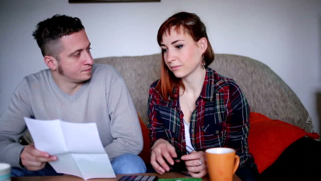 Young couple in Financial Difficulties