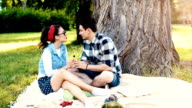 Young Couple on Romantic Picnic