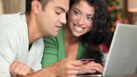 CU TU Young couple online  shopping for Christmas gift / Richmond, Virginia, USA