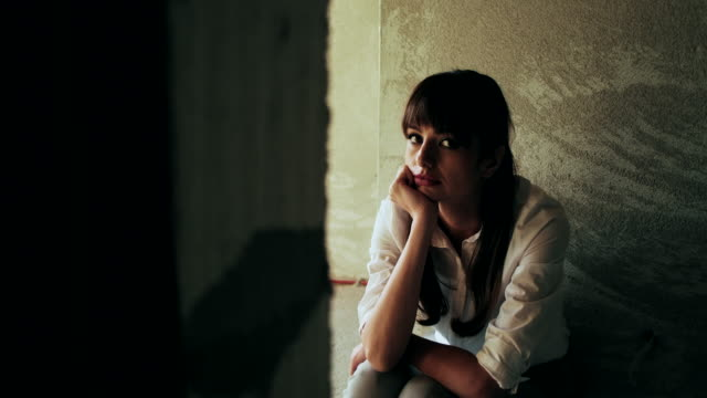 Young depressed woman