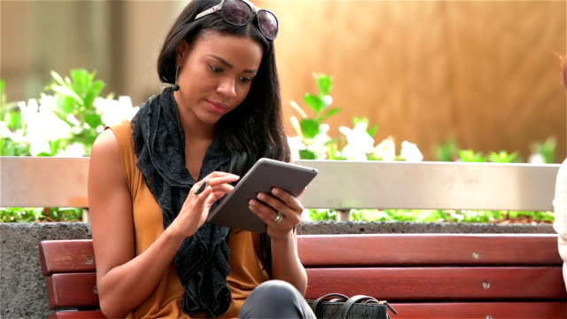 Young entrepreneur woman using tablet