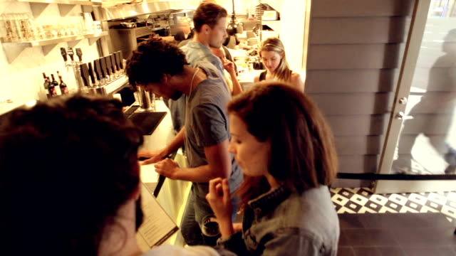 Young Friends Ordering Organic Food