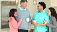 Young interacial couple, meeting the parents