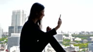 Young Japanese Businesswoman Video Call