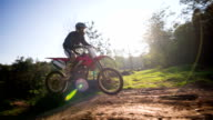 Young male motocross rider