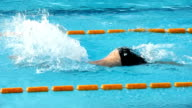 HD: Young Male Swimmer at Butterfly stroke