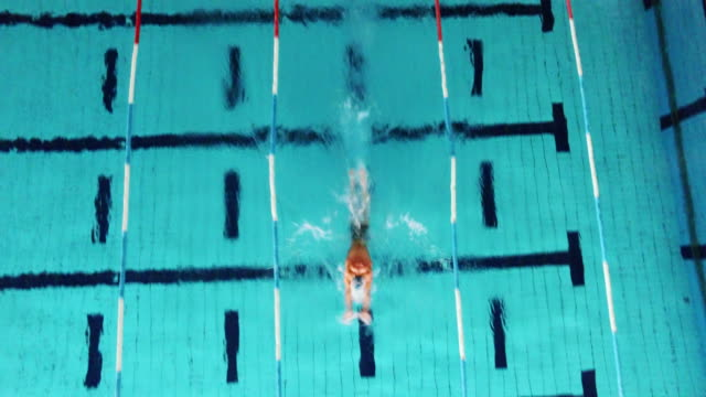 Young male swimmer