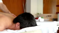 PANNING: Young man at SPA treatment