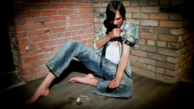Junger Mann Drogensucht