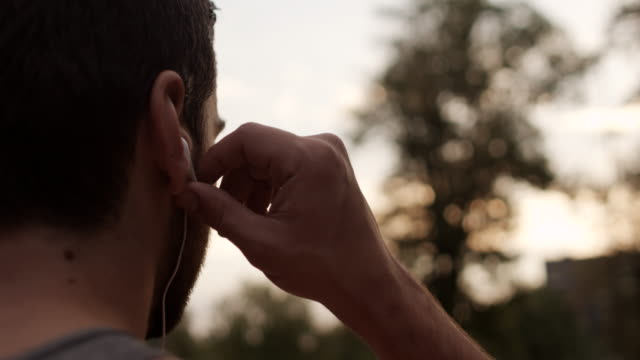 Young man with earphones