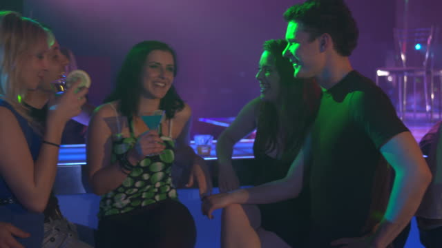 HD DOLLY: Young People At The Bar Counter