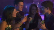 HD: Young People Drinking At Night Bar