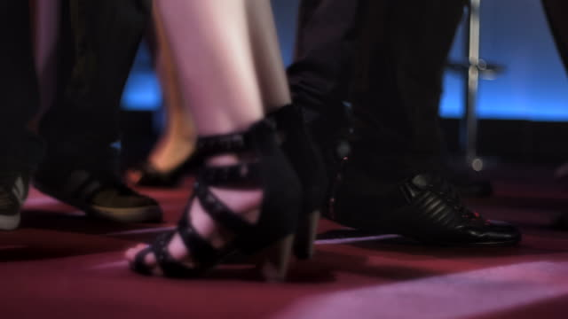 HD SLOW MOTION: Young People's Feet At Club