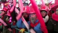 Young revelers cheer on New Year's Eve in New York's Times Square United States on January 01 2015 An estimated one million people assembled on New...