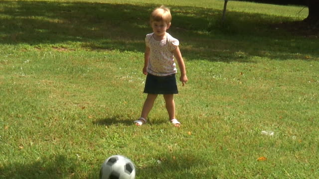 (HD1080i) Young Soccer Star. Shot handheld 'news' style