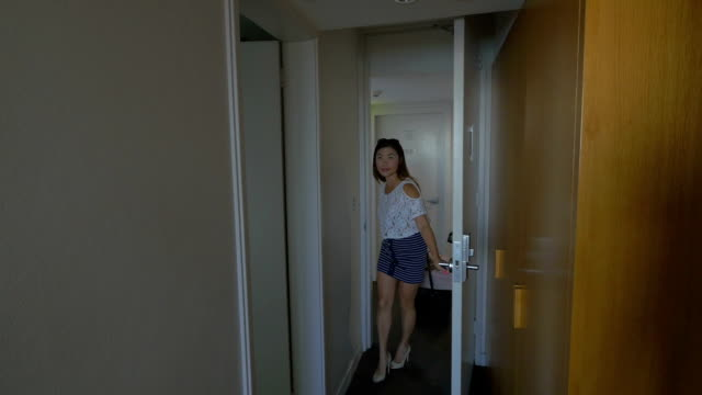 Young Traveler Arriving At A Hotel Room