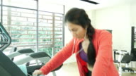 Young woman exercise in health club
