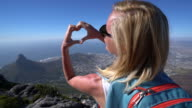 Young woman loving Cape Town