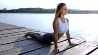 Young woman relaxing meditating
