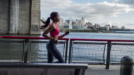 Young Woman running in New York