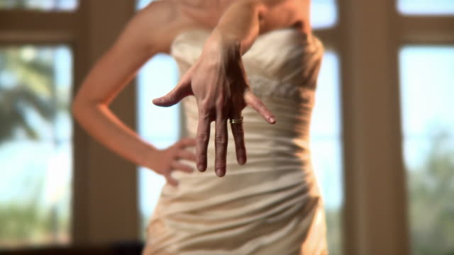 MS Young woman showing engagement ring / Jacksonville, Florida, USA