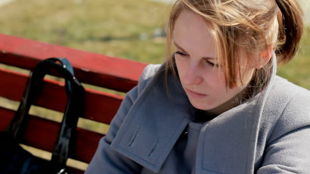 Young woman teenage feeling sadness and frustration, having some problems